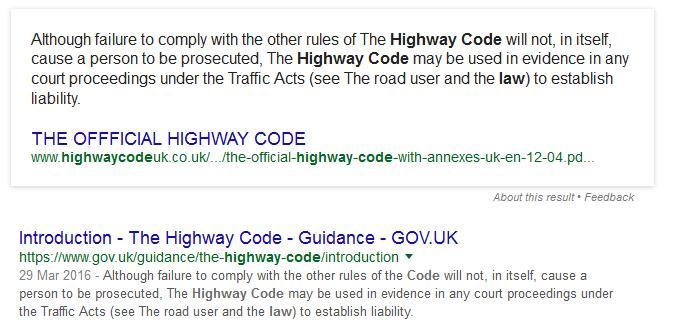 traffic rules uk